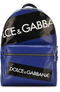 Текстильный рюкзак Vulcano с кожаной отделкой Dolce & Gabbana