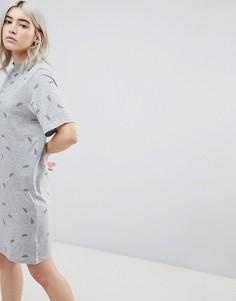 Платье-футболка с принтом Cheap Monday - Серый