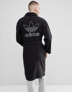 Черный халат adidas Originals adicolor CF6934 - Черный
