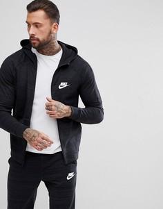 Худи черного цвета на молнии Nike Advanced 943325-010 - Черный