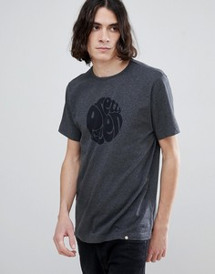 Серая трикотажная футболка с короткими рукавами и логотипом Pretty Green - Серый