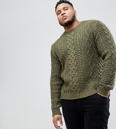 Джемпер цвета хаки ASOS PLUS - Зеленый