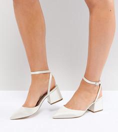 Туфли для широкой стопы на каблуке средней высоты ASOS SCARLETTE - Кремовый