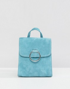 Замшевый мини-рюкзак с кольцом ASOS - Синий