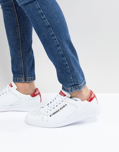 Белые кроссовки с логотипом Versace Jeans - Белый
