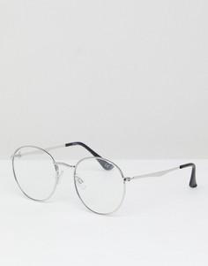 Круглые очки Jeepers Peepers - Серебряный