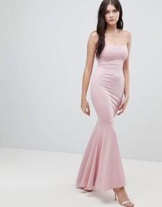 Креповое платье-бандо макси ASOS - Розовый