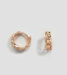 Серьги-кольца из позолоченного серебра DesignB эксклюзивно для ASOS - Золотой