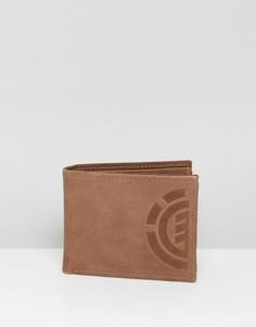 Коричневый кожаный кошелек Element Elite - Коричневый