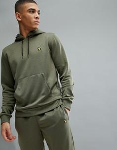 Худи зеленого меланжевого цвета Lyle & Scott Fitness Haston 3 - Зеленый