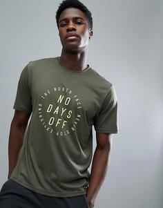 Зеленая меланжевая футболка с принтом The North Face Mountain Athletics Running - Зеленый