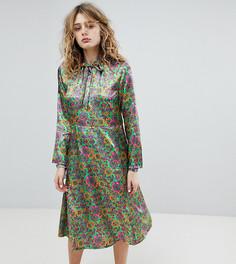 Платье миди с разрезом спереди Milk It Vintage - Зеленый