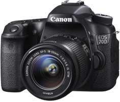 Зеркальный фотоаппарат Canon EOS 70D Kit 18-55mm IS STM (черный)