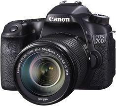 Зеркальный фотоаппарат Canon EOS 70D kit 18-135 STM (черный)