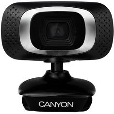 Веб камера Canyon CNE-CWC3 (черный, серебристый)