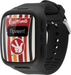 Детские умные часы Fixitime с телефоном и функцией трекинга (черный)