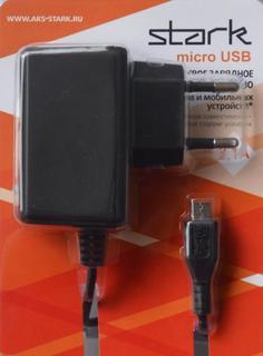 Сетевое зарядное устройство Сетевое зарядное устройство Stark microUSB 2100мА (черный)