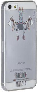 """Клип-кейс Клип-кейс Deppa Art Case для Apple iPhone SE/5/5S рисунок """"Индеец 2"""" + защитная пленка (прозрачный с рисунком)"""