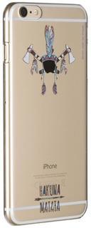 """Клип-кейс Клип-кейс Deppa Art Case для Apple iPhone 6 Plus/6S Plus рисунок """"Индеец 2"""" + защитная пленка (прозрачный с рисунком)"""