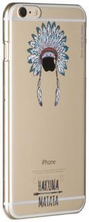 """Клип-кейс Клип-кейс Deppa Art Case для Apple iPhone 6 Plus/6S Plus рисунок """"Индеец 3"""" + защитная пленка (прозрачный с рисунком)"""