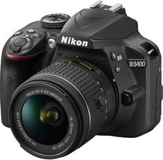 Зеркальный фотоаппарат Nikon D3400 kit 18-55mm VR AF-P (черный)