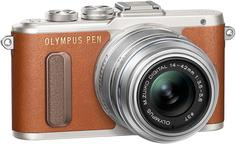 Фотоаппарат со сменной оптикой Olympus PEN E-PL8 Kit 14-42mm EZ (коричневый)
