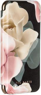 Чехол-книжка Чехол-книжка Ted Baker Folio для Apple iPhone 7/8 PORCELAIN ROSE (черный с рисунком)