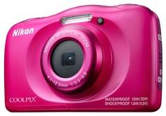 Цифровой фотоаппарат Nikon Coolpix W100 с рюкзаком (розовый)