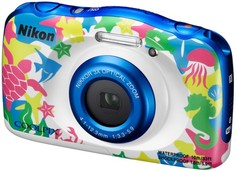 Цифровой фотоаппарат Nikon Coolpix W100 с рюкзаком (морской)
