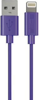 Кабель InterStep USB-Apple 8pin MFI 1м (фиолетовый)