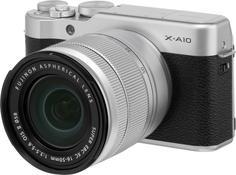 Фотоаппарат со сменной оптикой Fujifilm X-A10 Kit 16-50 (серебристый)