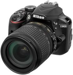 Зеркальный фотоаппарат Nikon D3400 KIT 18-105 VR (черный)