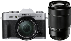 Фотоаппарат со сменной оптикой Fujifilm X-T20 Kit 16-50mm + 50-230mm (серебристый)