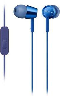 Проводная гарнитура Sony MDR-EX155AP (синий)