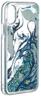 Клип-кейс Клип-кейс iCover Sparkle для Apple iPhone X Marble (с рисунком)