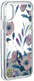 Клип-кейс Клип-кейс iCover Sparkle для Apple iPhone X Cyan Garden (с рисунком)