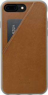 Клип-кейс Клип-кейс Native Union CLIC CARD для Apple iPhone 8 Plus/7 Plus (коричневый)