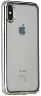 Клип-кейс Клип-кейс Oxy Fashion MetallPlated для Apple iPhone X (серебристый)