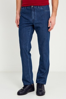 Прямые синие джинсы Brioni