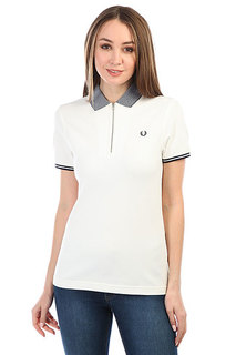 Поло Fred Perry Tipped Zip Neck Pique White