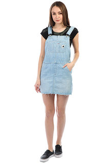 Комбинезон Carhartt WIP Bib Dress Blue (prime Bleached)