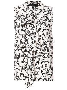 платье без рукавов с оборками  Proenza Schouler