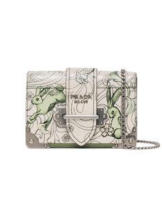 сумка на плечо Cahier с принтом Prada
