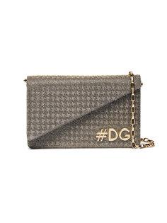 DG Girls fabric logo clutch with strap Dolce & Gabbana