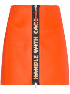 мини-юбка на молнии  Heron Preston