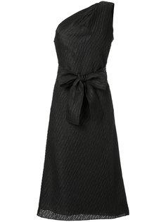 твидовое платье на одно плечо Carolina Herrera
