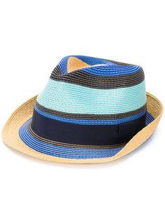соломенная шляпа в полоску Etro