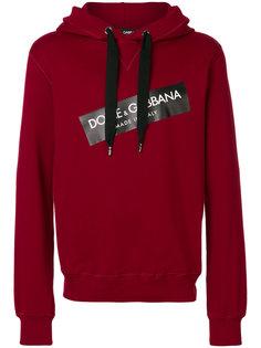 толстовка с капюшоном с заплаткой с логотипом Dolce & Gabbana