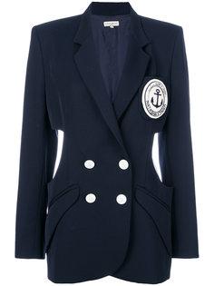 двубортный пиджак с вырезом  Natasha Zinko