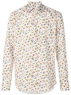 рубашка с комбинированным принтом Etro
